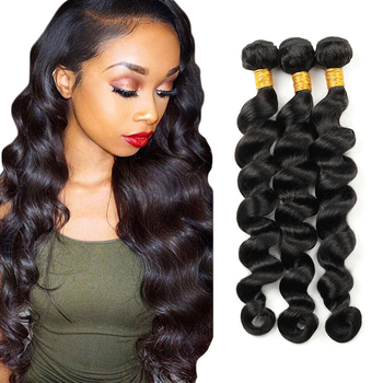 HEFEI VAST 100% unprocessed raw virgin brazilian human hair bundles sew in hair loose deep wave trio hair