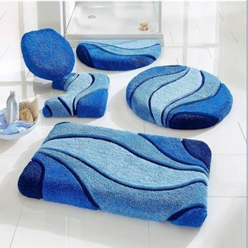 Polyacrylic Jacquard Luxury Absorbent 5pcs Set Mats Tufed Anti Slipping Latex Back Floor Bathroom Mat Buy 5 Piece Rugs Sets Skid For 5pc Bath