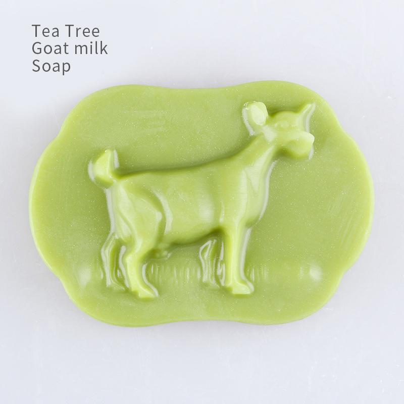private label oem custom 120g hot selling tea tree kids goat soap bar children goat milk soap