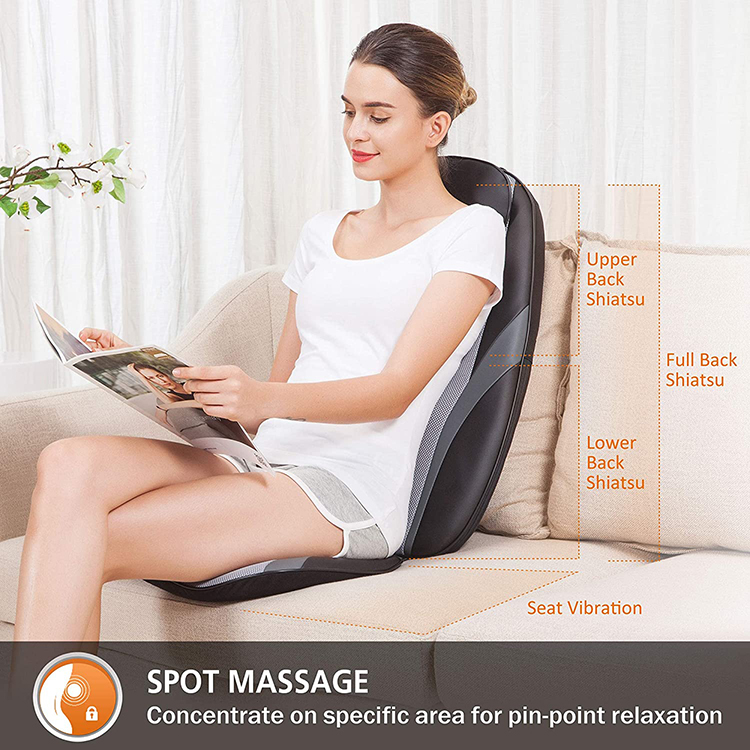 Good Health Vibration Neck And  Back  Massage Seat Cushion For Car