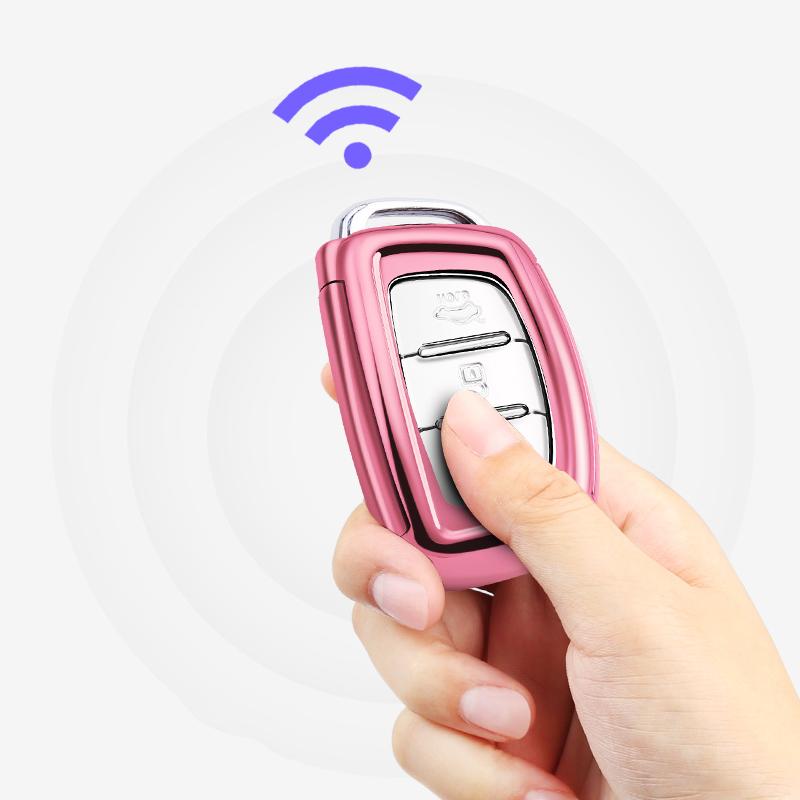 hot sale soft TPU customized design car key cover car key wallet shell car key bag remote for HD car key case