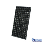 Seed Seedling Tray 128 Cells Flat Plastic Potting Seedling Tray Microgreen For Farm Seed Tray Black