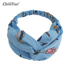 Accessories New Fabric Hair Band Korean Ladies Small Fresh Cross-knotted Wide Side Wash Headband Cloth Hair Accessories