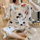 Short Wholesale Summer Fashion And Comfortable Ladies Short Sleeve Pajamas Set