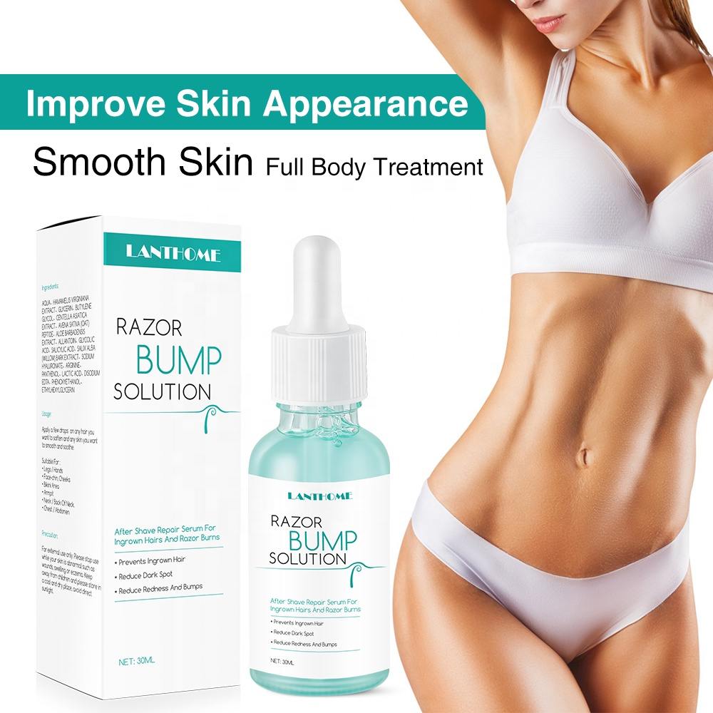 Private Label Razor Bumps and Ingrown Hairs Serum After Shave Solution Roll On for Ingrown Hairs Razor Bump Stopper