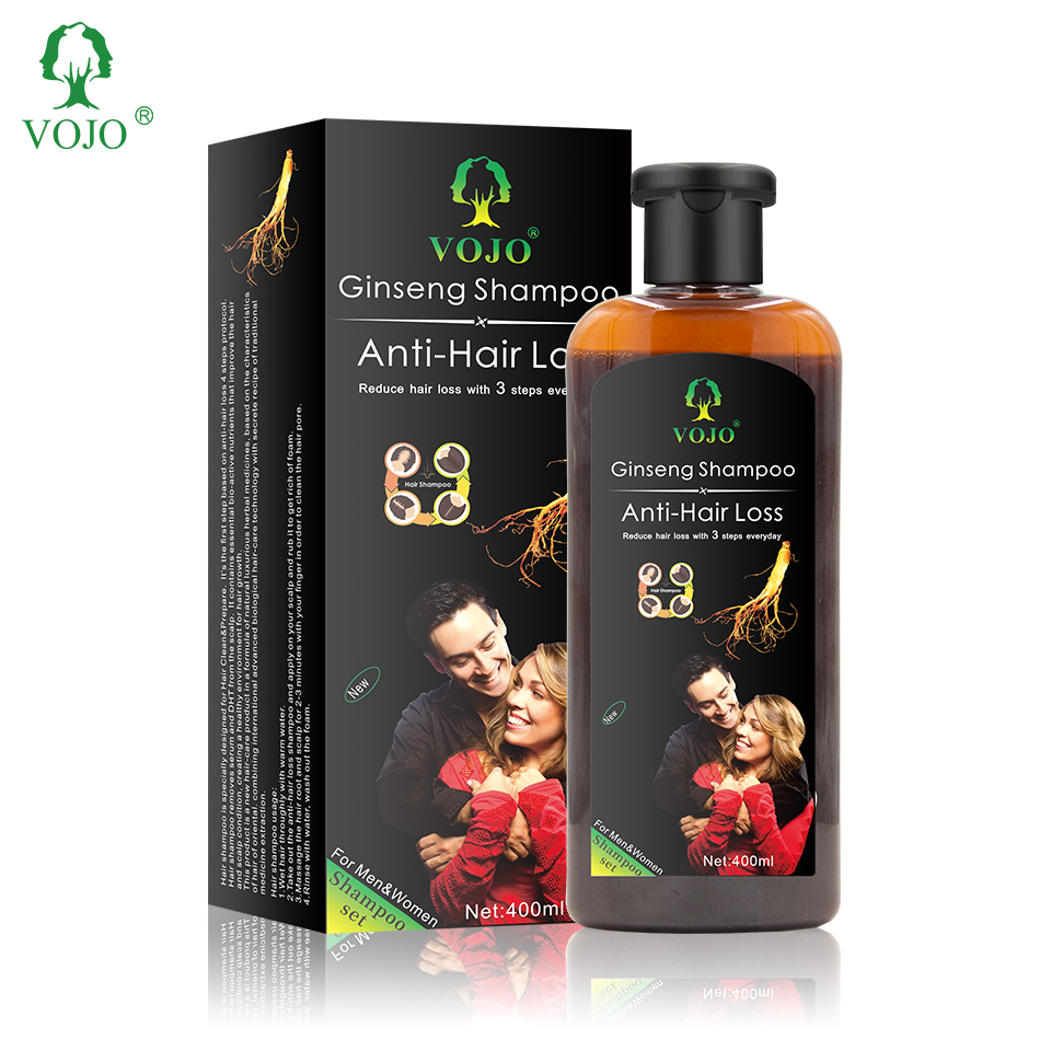 New Arrival Ginger Plant Herbal Formula Oil Control Hair Thickening  Anti Hair Loss Hair Growth Shampoo For Men