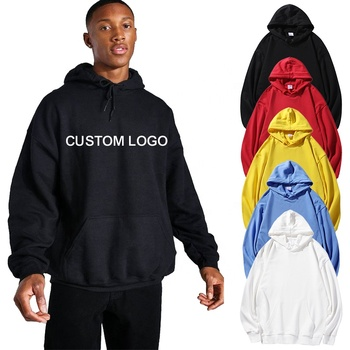 100% cotton Customized printing logo Brand unisex plain oversized hoodies