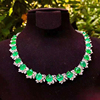18k gold 44.32ct natural emerald necklace