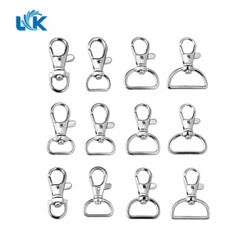 Wholesale Metal Lobster Claw Clasps - Wide 10mm 15mm 20mm 25mm Key Ring D Ring Swivel Trigger Snap Hooks