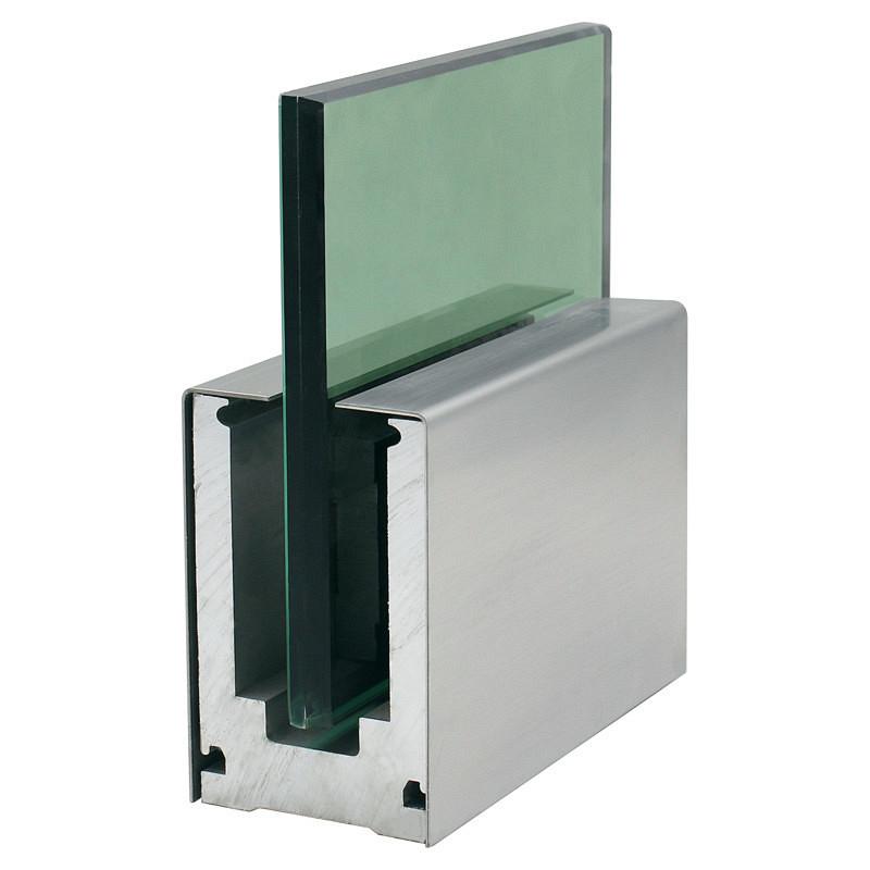 Поставка из Китая, Безрамная стеклянная балюстрада, алюминиевые U-образные перила, перила для балкона, бассейна из оргстекла