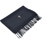 Scarf Black Thick Wool Scarf BLUE PHOENIX Custom Fashion Scarf With Logo Embroider 100 Wool Thick Winter Black