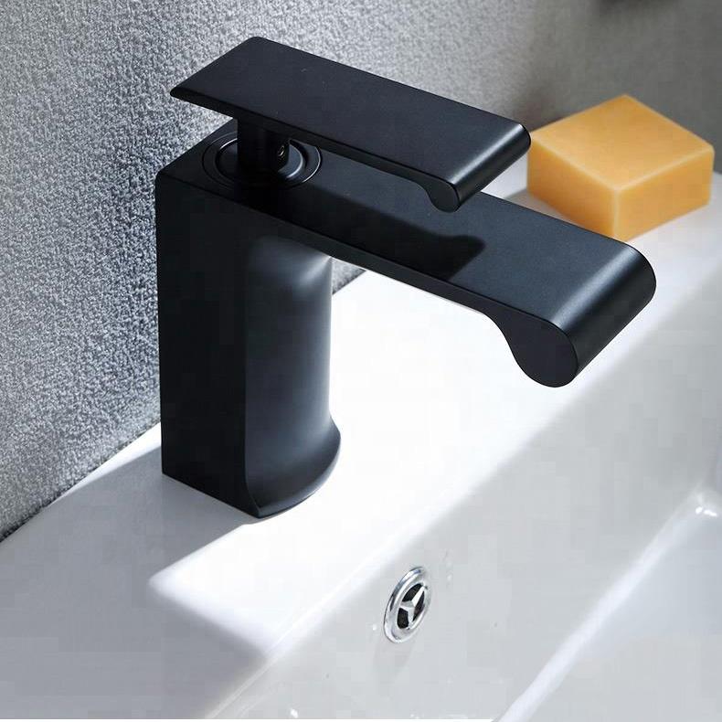 Латунный матовый черный смеситель для раковины, кран с одной ручкой для ванной комнаты, краны ORB, смесители, краны