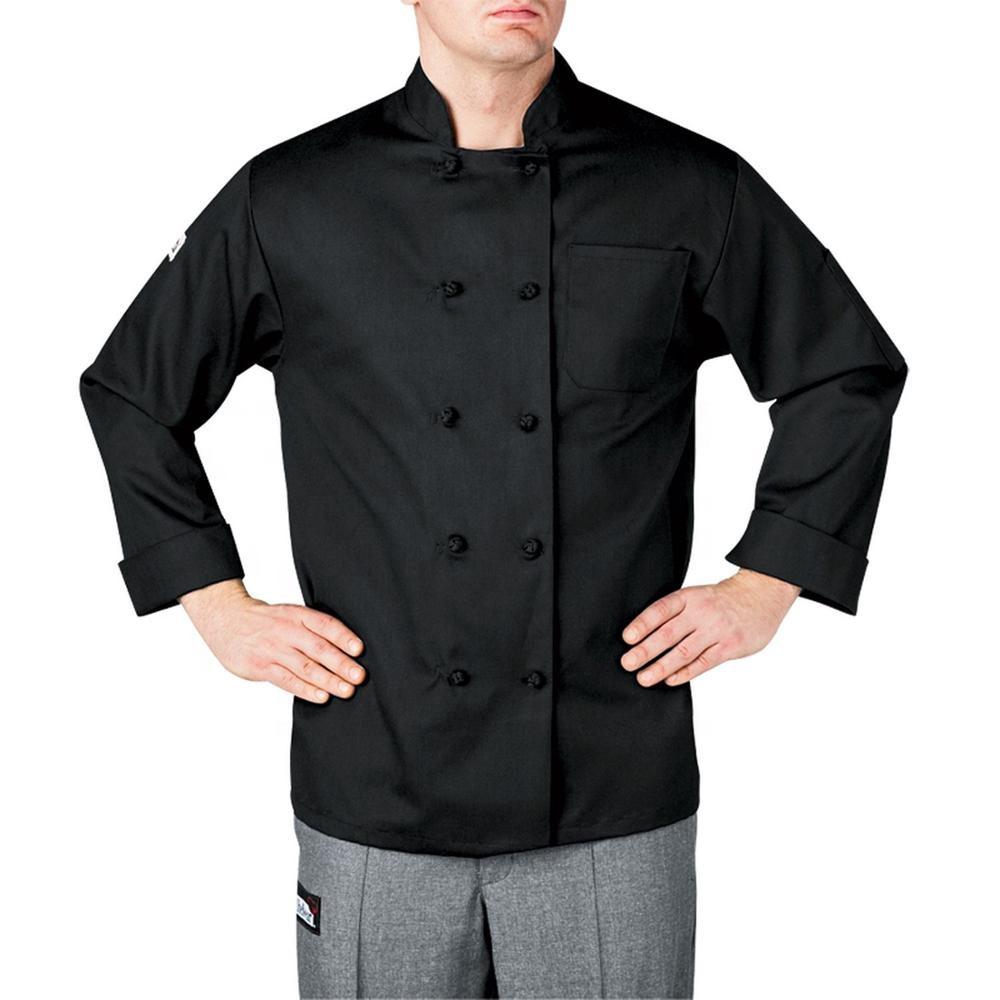 Men's Restaurant Kitchen Executive Chef Cook Uniform for Restaurant & Bar Hotsale Men and Women Hotel Uniform for Unisex 100pcs