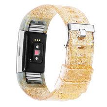 Для Fitbit Charge 2 Band Bling силиконовый ремешок для часов модный браслет для Fitbit Charge 2 Woman Sport Watch Band Starps(Китай)