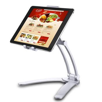2-in-1 Adjustable Kitchen Tablet Desktop Stand Wall Mount Holder for iPad 2018/iPad Mini