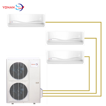 Cooling And Heating Inverter Dual Split Air Conditioner Multi Split AC 60Hz R410a Gas