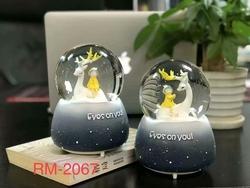 100 мм полимерные изделия разных размеров, хрустальный шар, снежный шар для сувениров с музыкой