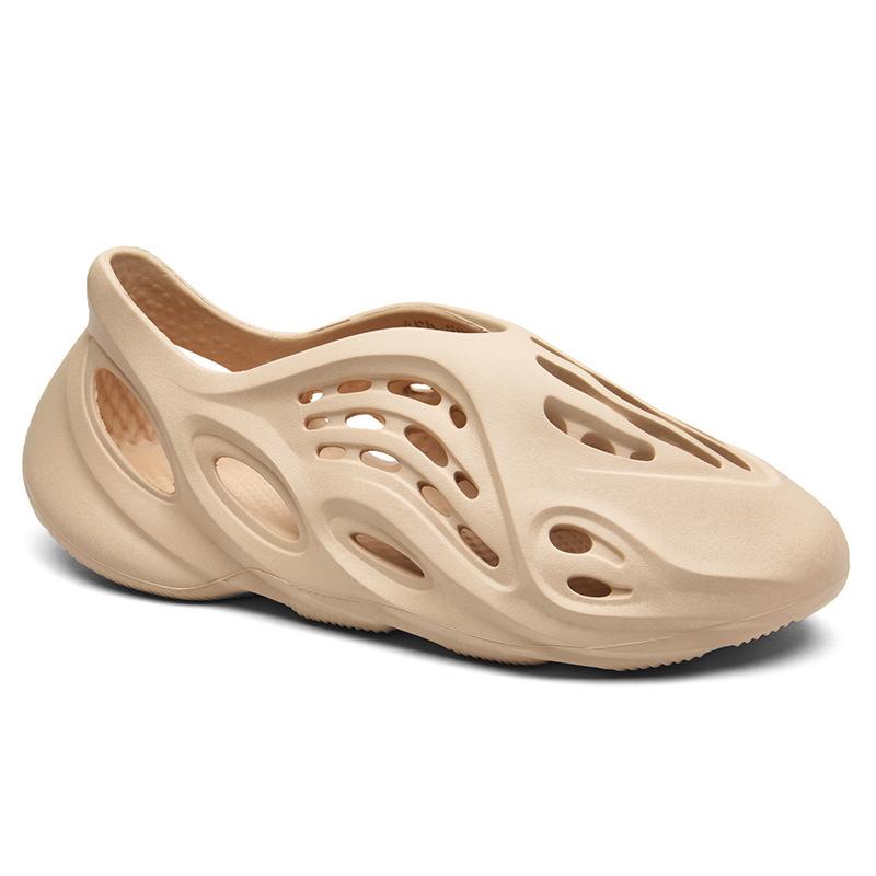 2020 PLUS size slip-on shoe Yeezy Foam Runner HOLE Slides Cream sandal for men
