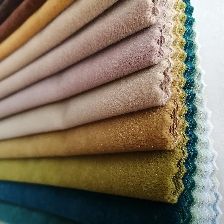Free Sample Knitted Polyester Holland Plush Velvet Fabric For Sofa Upholstery Knitted Polyester Holland Plush Velvet Fabric For Upholstery