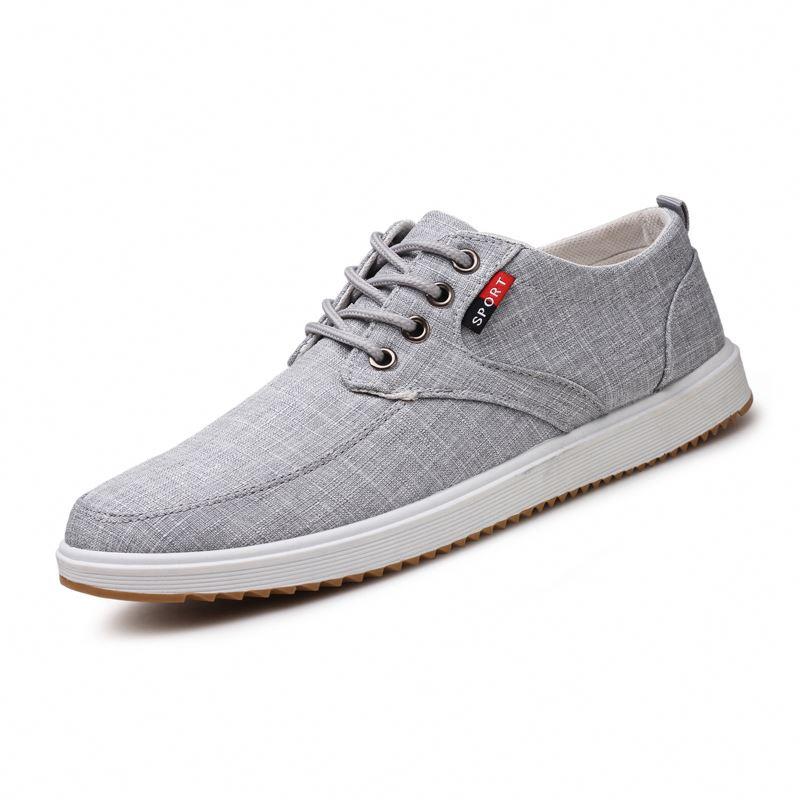 Мужская повседневная обувь из парусины, недорогие дышащие и легкие кроссовки, повседневная обувь, 2019