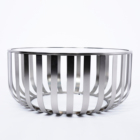Coffee Table Modern Design 2 Piece Clear Tempered Glass Top Round Centre Coffee Table Set Stainless Steel Metal Furniture