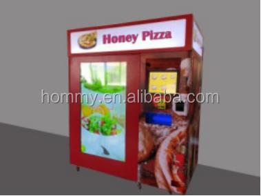 Автомат для продажи пиццы на открытом воздухе, автомат для продажи горячих продуктов, торговый автомат для гамбургеров