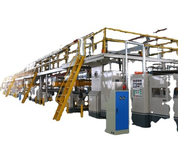 automatic fully corrugated carton cardboard single facer production line 3/5/7ply corrugated paperboard line