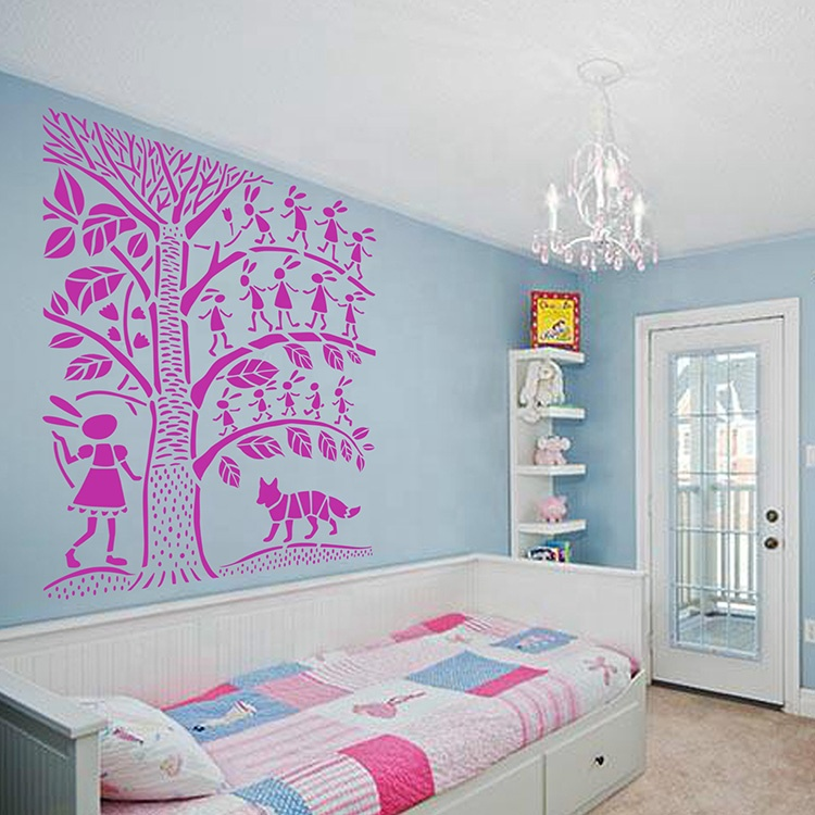 New Design Big Plastic PET Stencils for Wall Painting Decorating