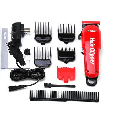 Срок службы 7 часов большая емкость литиевой батареи зарядки машинка для стрижки волос в ретро стиле из пропитанной головка Электрический фейдер KM-706Z