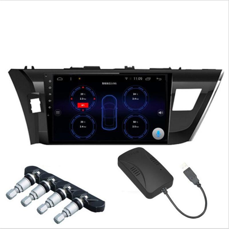 Универсальный Смарт-приемник TPMS, беспроводной внутренний и внешний датчик давления в шинах, TPMS монитор для Android, автомобильная навигация