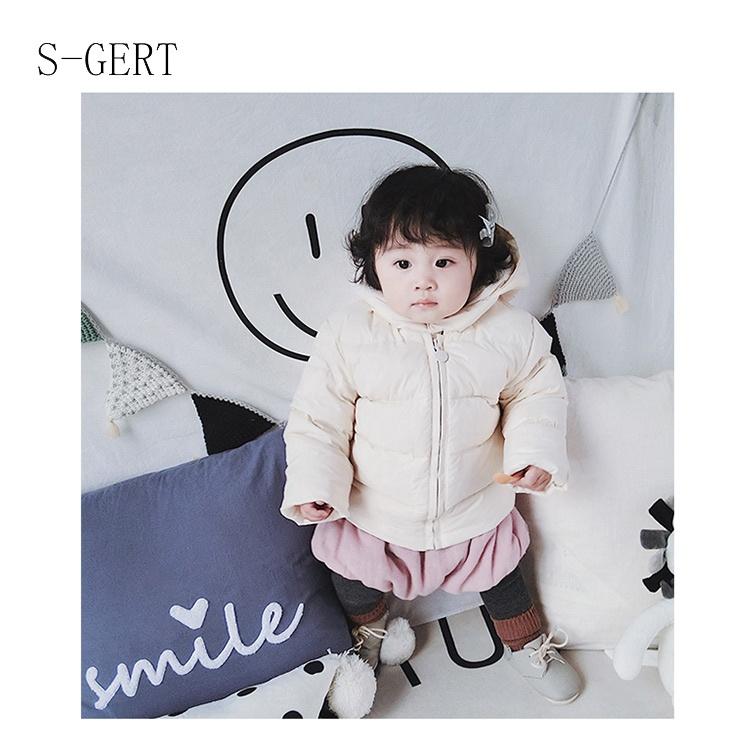 Cute Duck Down Filled Hoodie Winter Children Girls Clothes Baby Girl Jacket