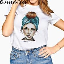 Новое поступление 90S Harajuku Женская мода Девушка футболка с принтом счастливые эстетические мягкие топы размера плюс Shein Готика(Китай)