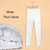 White thick velvet
