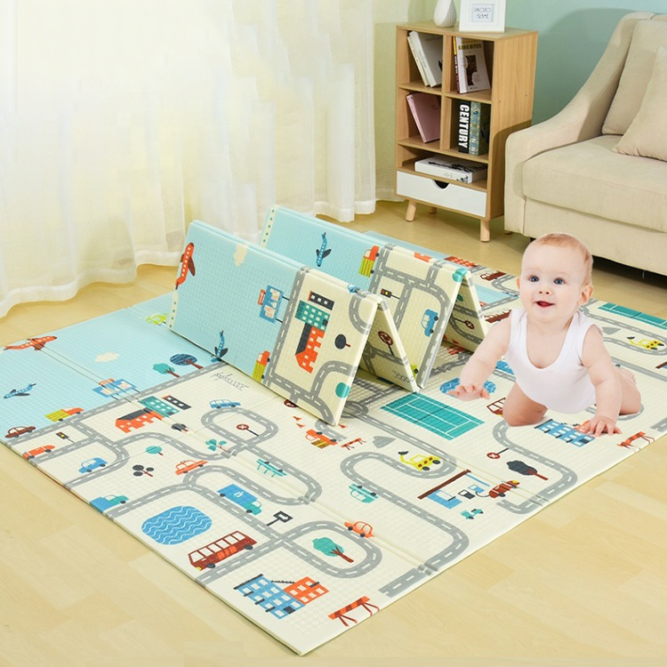 Оптовая продажа, детский коврик, большой нетоксичный мультяшный дизайн, игровые коврики из пены XPE, складной детский игровой коврик