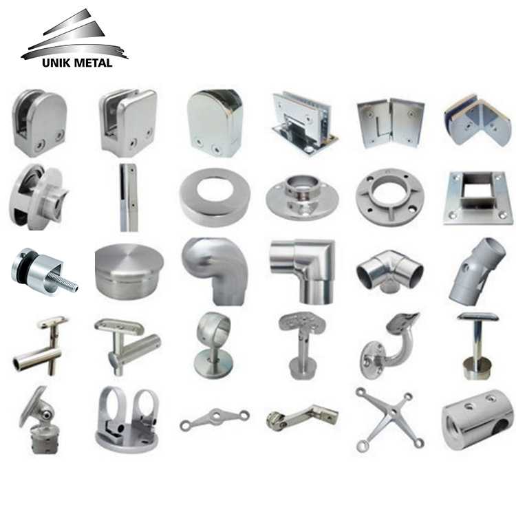 304 316 deck balcony balustrade stainless steel glass support bracket handrail railing accessories fittings hardware