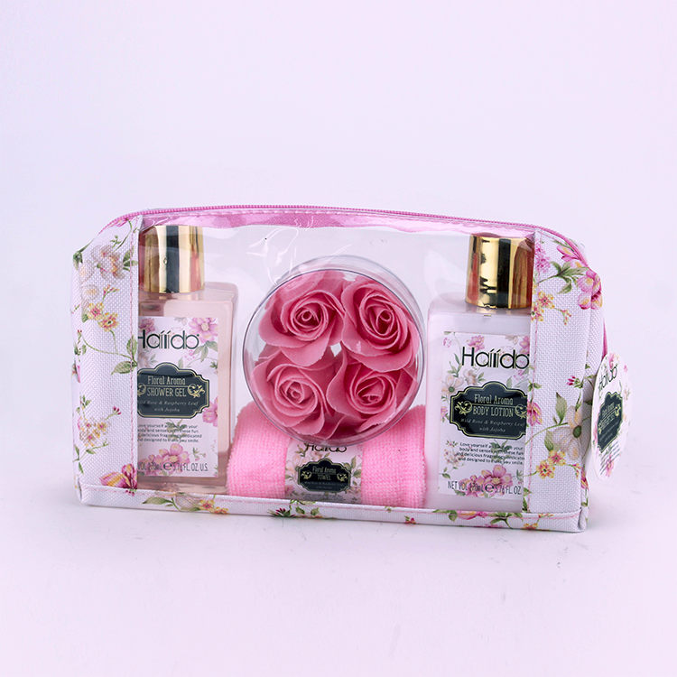 Wholesale basket wire moisturize bath and body care spa gift set fragrance