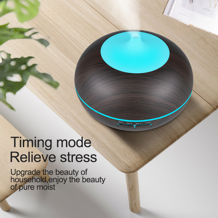 Remote Control Aroma Diffuser Aromatherapy Wood Grain Essential Oil Diffuser 550ML Ultrasonic Cool Mist Humidifier For Home