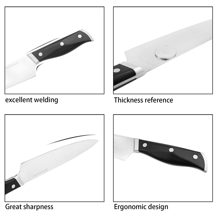 Amazon High Quality 10 Inch Stainless Steel Blade Bread Knife with ABS Handle