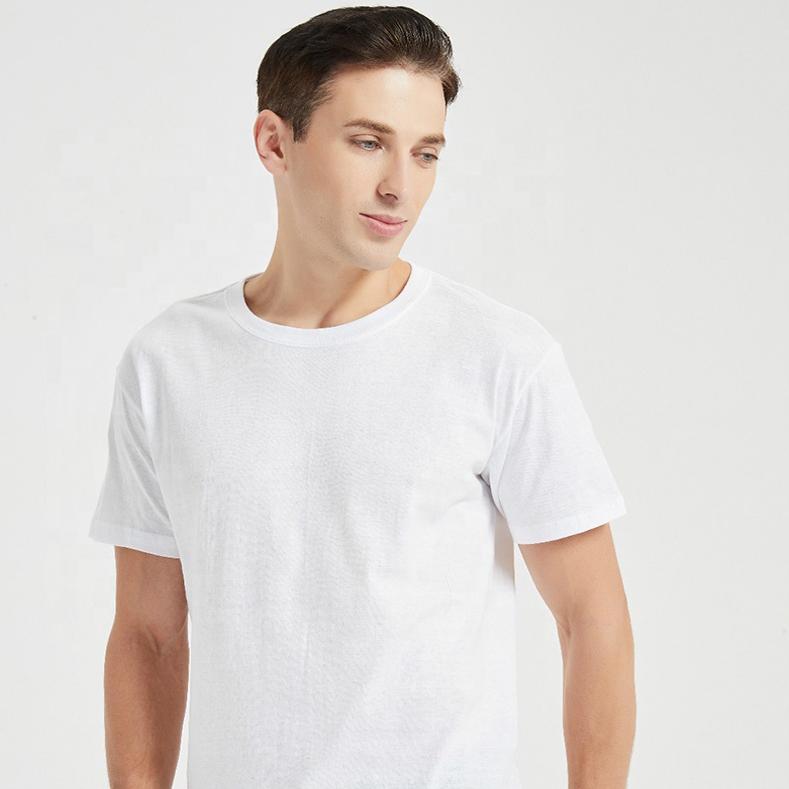 100% cotton 160gsm Fine cotton short sleeve SML 0.99USD  to 5XL  custom design oem logo men's plain blank white cotton t shirts