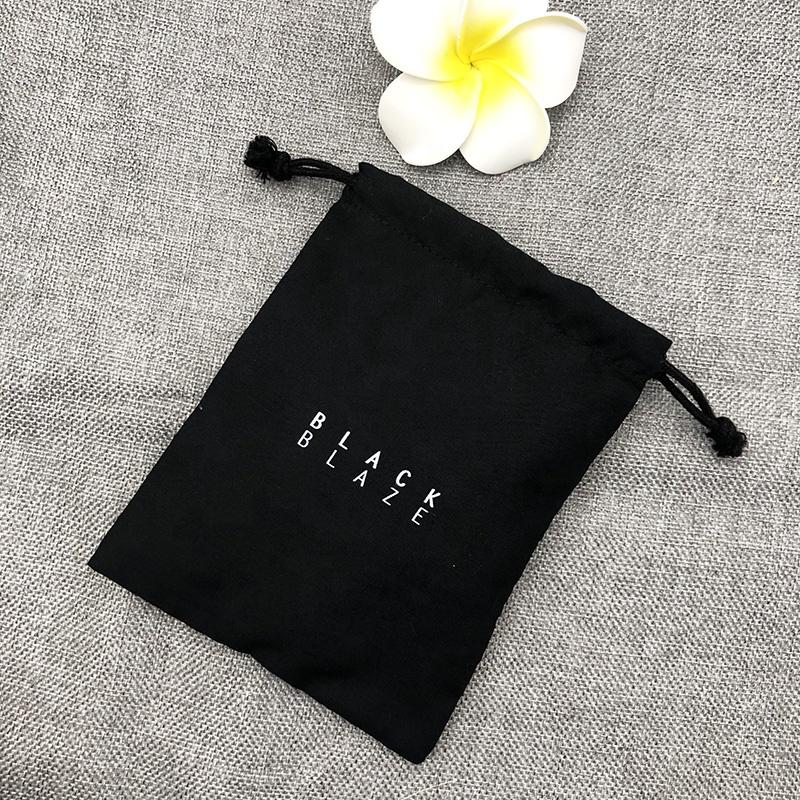Черный хлопковый пылесборник на шнурке с логотипом заказчика, черный хлопковый пылесборник на шнурке для сумок, обуви, тканевый упаковочный мешок