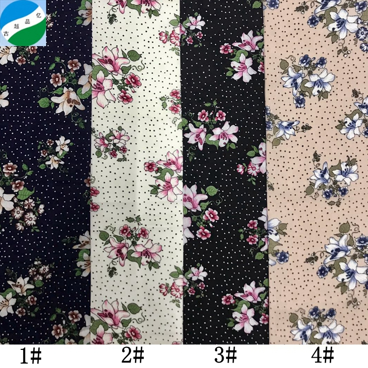 Wholesale cheap price High Quality rayon print dress fabric stock for women dress