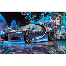 Современный Креативный уличный граффити спортивный автомобиль 3D фотообои для ресторанов клубов KTV бар Papier Peint Enfant(Китай)