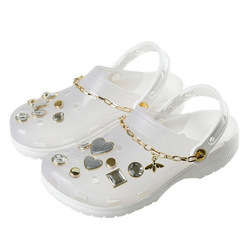 2021 new diamond charms Slippers Women' clogs Mule platform eva garden beach Water Shoes sandals shoes for women with charms