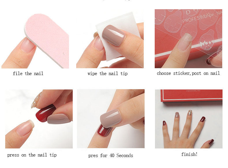 TSZS Hot sale 30pcs top quality easy apply nail supplies artificial fingernails press on nails custom