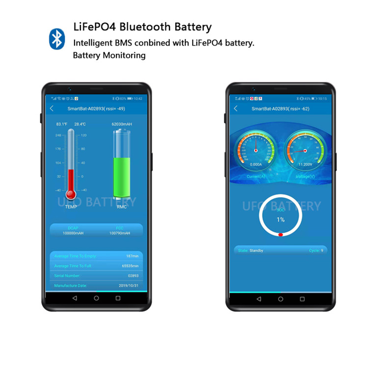 Guaranteed quality unique Bluetooth Lithium ion Battery Pack replacement of lead acid battery