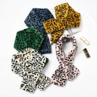 The new green yellow white leopard print cashmere scarves printed mongolia womens winter scarves merino wool scarves