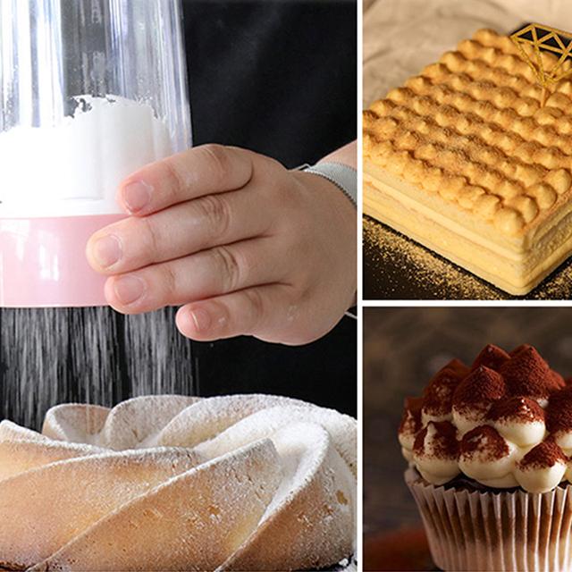 Good quality food safe plastic flour sieve flour shaker sifter sieve for baking