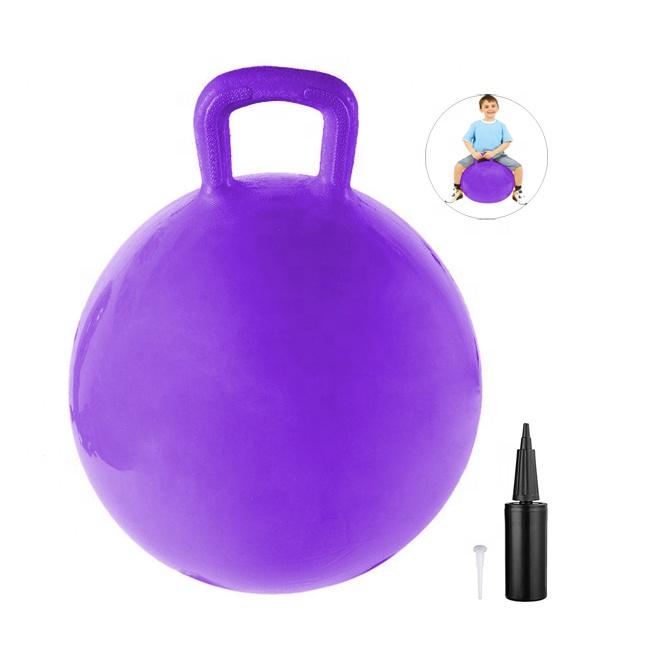 Забавный детский шарик 55 см 800 грамм с ручкой и фирменной торговой маркой
