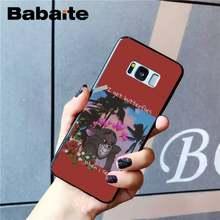 Babaite эстетический аниме мультфильм девушка ТПУ черный чехол для телефона оболочка для samsung GALAXY S9 plus S3 S6 7 8 9 S10 E S9 Чехол для мобильного телефон...(Китай)