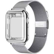 Чехол + ремешок для Apple Watch Band 44 мм 40 мм 42 мм 38 мм металлический ремешок Миланская петля браслет для iWatch series 5 4 3 2 38 40 42 44 мм(Китай)